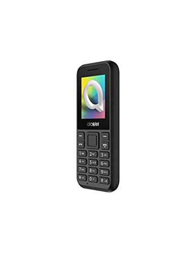 Alcatel 1066D - Telefono móvil de fácil uso, Pantalla de 1.8� QQVGA, 2G, cámara trasera CIF, 4MB de RAM, 4MB de ROM, batería 400mAh (Negro)