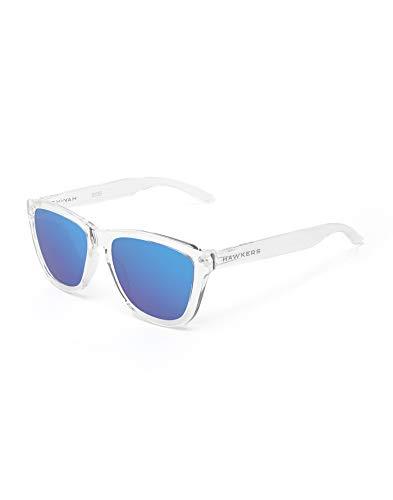 HAWKERS Gafas de Sol, Transparente/Azul, One Size Unisex Adulto