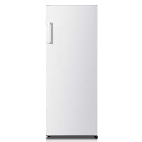 Hisense RL313D4AW1 - Frigorífico de Una Puerta, Capacidad Neta 242 L, 143,4 cm alto, patas ajustables, silencioso 40 dBA, color blanco