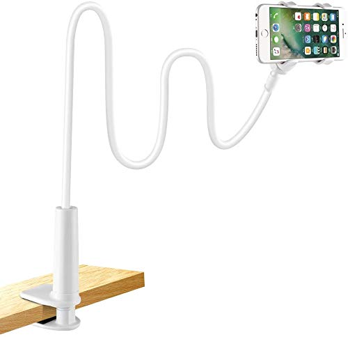 LONZOTH Soporte para teléfono móvil, Teléfono Móvil Soporte Cuello de Cisne Soporte Universal Soporte para iPhone Smartphone Teléfono Móvil (Phone Stand|White)