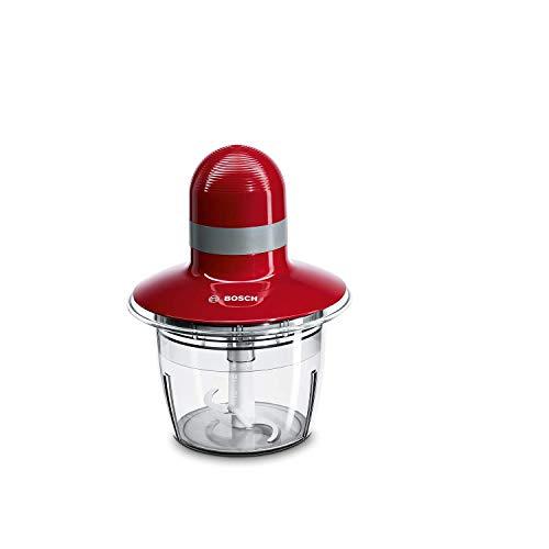 Bosch MMR08R2 - Picadora, 400 W, Capacidad 0.8 litros, color rojo