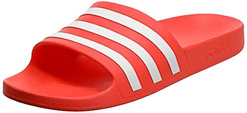 adidas Adilette Aqua, Sandalias deslizantes Hombre, Solar Red/Cloud White/Solar Red, 42 EU