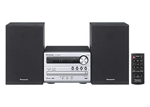 Panasonic SC-PM250EC-S- Microcadena (Hi- Fi, Bluetooth, Equipo De Sonido Para Tu Hogar, CD, Bluetooth, USB, MP3, Radio FM, 20W (RMS),Diseño compacto, Ecualizador)-Color Plata