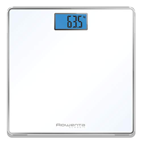 Rowenta BS1501 Classic, Báscula de Baño con Pantalla LCD, Blanco