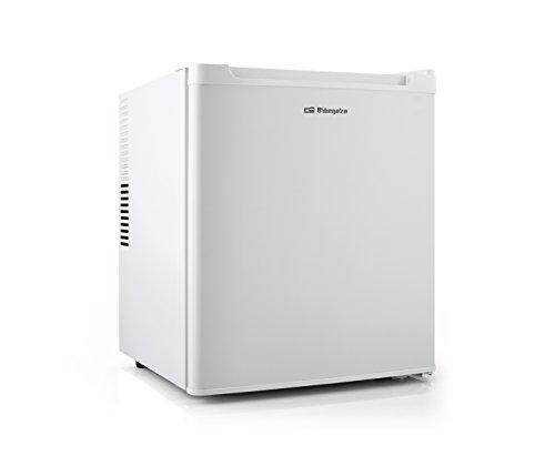 Orbegozo NVE 4600 - Mini nevera eléctrica de 38 litros de capacidad, potencia de 70 W, luz interior LED, control de temperatura ajustable y sistema No Frost, blanco