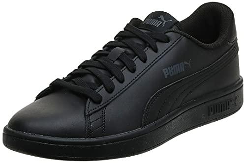 PUMA Smash V2 L, Zapatillas Bajas Unisex-Adulto, Negro (Black/Black), 42 EU