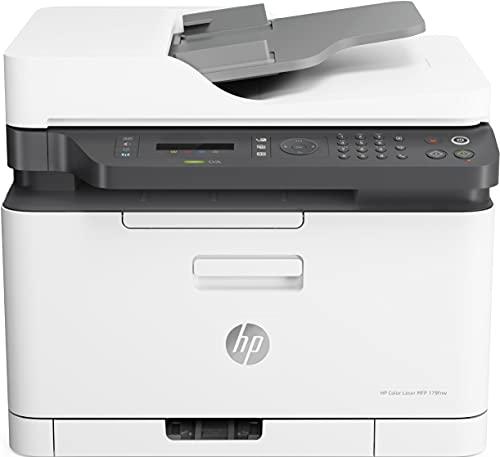 HP Color Laser MFP 179fwg 4ZB97A, Impresora Láser Color Multifunción, Imprime, Escanea, Copia y Fax, Wi-Fi, Ethernet, USB 2.0 alta velocidad, HP Smart App, Panel de Control LCD, Blanca
