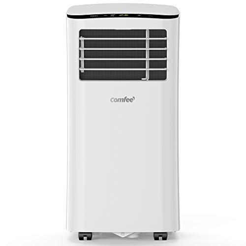 Comfee Aires acondicionados móviles, 7000 Btu, 2.0kW, Función 3 en 1 refrigeración, deshumidificación y ventilación, Eco R290,MPPH-07CRN7 Blanco [Clase energética A]