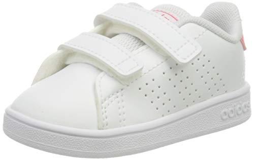 adidas Advantage I, Sneaker Unisex niños, Footwear White/Real Pink/Footwear White, 27 EU