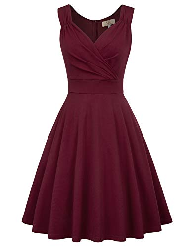 GRACE KARIN Mujer Vestido Corto Elegante para Fiesta Cóctel M CL011107-1