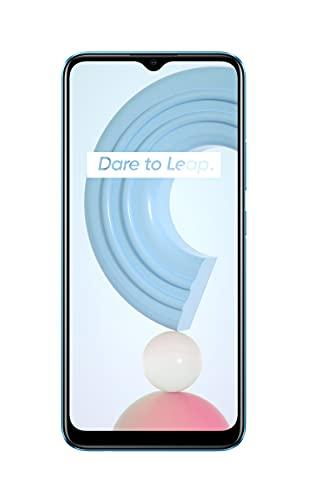 realme C21 Smartphone Libre, Batería de 5000 mAh, Pantalla completa de 6,5' con mini-drop, Cámara triple con IA de 13 MP, Procesador potente Helio G35, Dual Sim, 4+64GB, Cross Blue