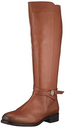 Tommy Hilfiger TH Hardware 2.0, Botas de Moda Mujer, marrón, 37 EU