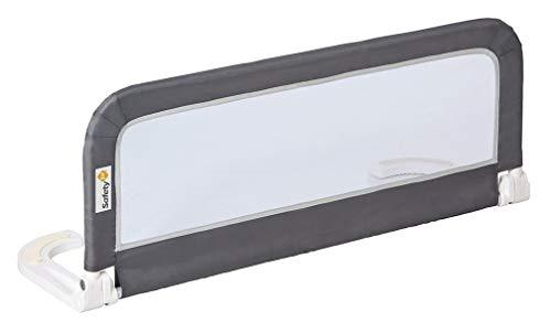 Safety 1st Barrera de cama portátil y extensible, Barandilla cama plegable de viaje, barrera de cama con protección anticaídas, color Gris