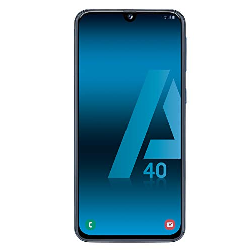 Samsung Galaxy A40 - Smartphone de 5.9' FHD+ sAmoled Infinity U Display (4 GB RAM, 64 GB ROM, 16 MP, Exynos 7904, Carga rápida), Negro [versión española]