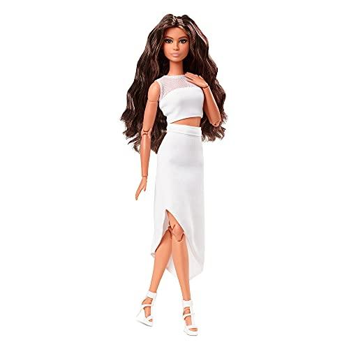 Barbie Movimiento sin límites original Muñeca pelo moreno con accesorios de moda de juguete (Mattel GTD89)