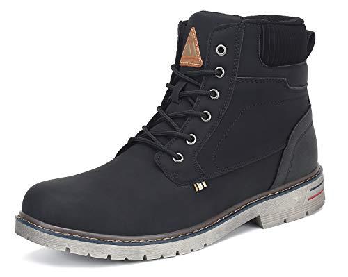 Mishansha Clásicas Botas Hombre Moto Impermeable Trekking Zapatos Negro 43