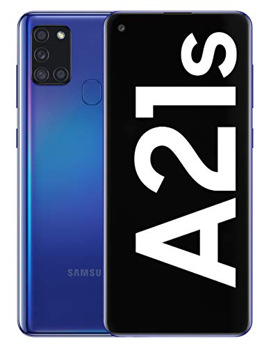 Samsung Galaxy A21s - Smartphone de 6.5' (4 GB RAM, 128 GB de Memoria Interna, WiFi, Procesador Octa Core, Cámara Principal de 48 MP, Android 10.0) Color Azul