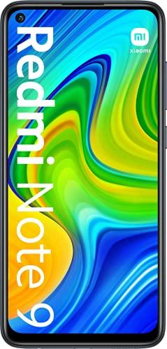 Xiaomi Redmi Note 9 - Smartphone 3GB+64GB, NFC, Pantalla FHD+ de 6.53' DotDisplay (Cámara cuádruple de 48MP con IA, MediaTek Helio G85, Batería 5020mAh), Negro, Versión Oficial