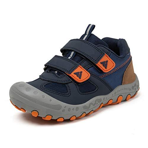 Zapatos de Bambas Niños Niña Zapatillas Senderismo Antideslizante Caminando Trekking Sneakers Azul 28 EU