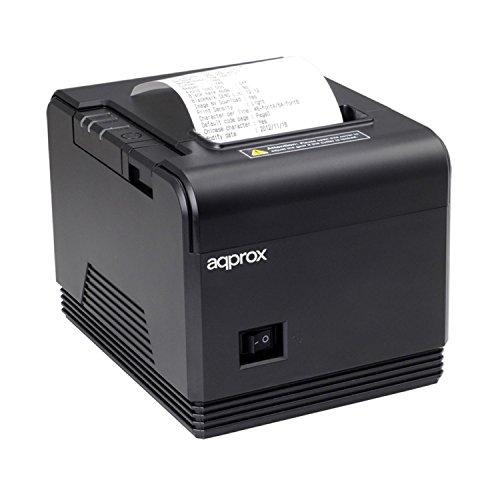 Approx APPPOS80AM - Impresora Térmica de Tickets, 200 mm/s, Papel 80 mm, Corte Automático y Manual, Negro