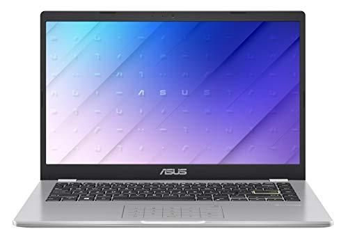 ASUS E410MA-EK018TS - Ordenador portátil 14' FullHD(Celeron N4020, 4GB RAM, 64GB EMMC, Intel UHD Graphics 600, Windows 10 Home) Blanco Sueño - Teclado QWERTY español