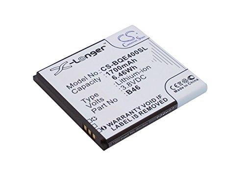 CS-BQE400SL Batería 1700mAh Compatible con [BQ] 1700, Aquaris E4 sustituye B46