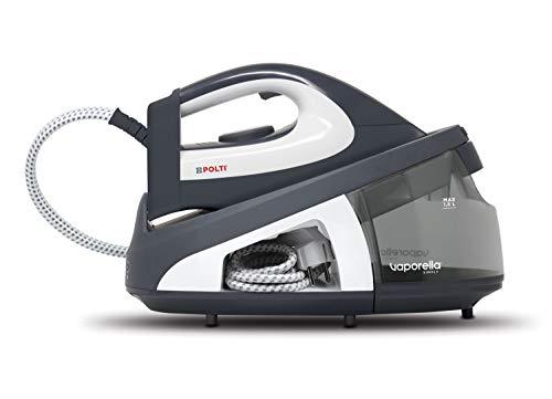 Polti Vaporella Simply VS10.12 Centro de Planchado generador de Vapor con deposito Extraible de 1,5 L, Bomba presión 6,5 Bar, función Eco, Calentamiento 2 Minutos, Gris/Blanco
