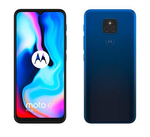 Motorola Moto E7 Plus - 6.5' Max Vision HD+, Qualcomm Snapdragon 460, 48MP sistema de doble cámara, 5000 mAH de batería, Dual SIM, 4/64GB, Android 10 - Color Azul [Versión ES/PT]