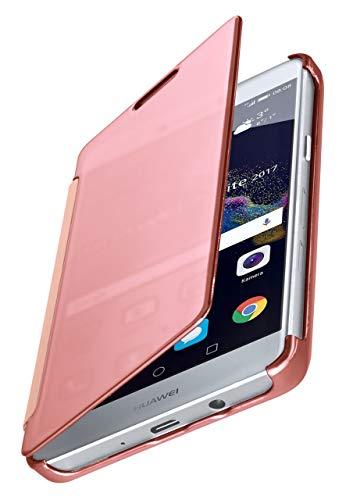 MoEx Funda Protectora Fina Compatible con Huawei P8 Lite 2017 | Cristal Tintado Transparente, Rose doré