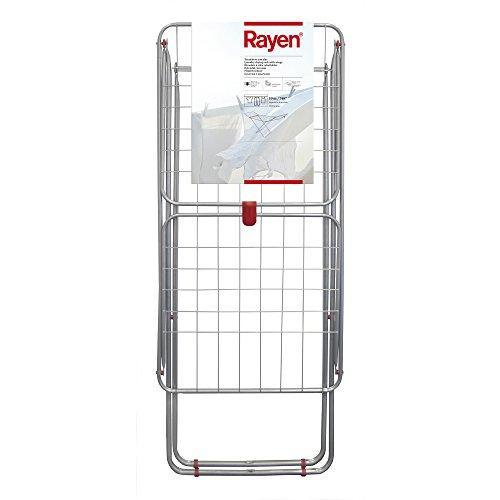 Rayen   Tendedero con alas   Superficie de tendido de 19 m   Sistema de bloqueo de alas   Tendedero plegable y antideslizante   Para interior y exterior   54,5 x 177 x 107,5 cm