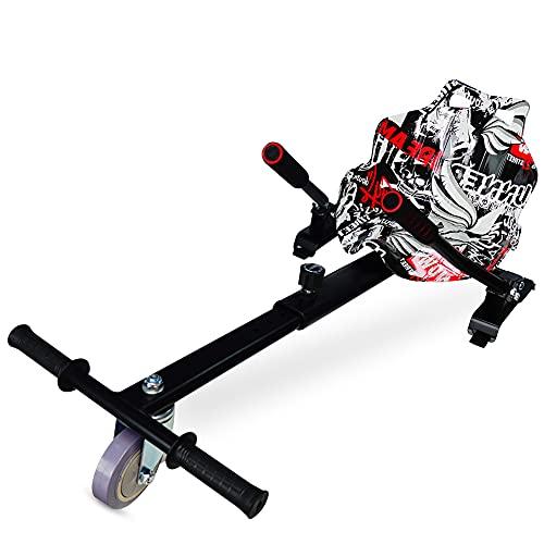 FUSIYU Silla Self Balancing Compatible con Todos los Patinetes Eléctricos de 6.5, 8 y 10 Pulgadas, Niños Regalo, Asiento Kart Negro, Sillas Hoverboard