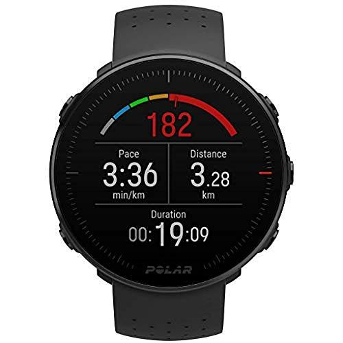Polar Vantage M -Reloj con GPS y Frecuencia Cardíaca - Multideporte y programas de running - Resistente al agua, ligero- Negro Talla M/L