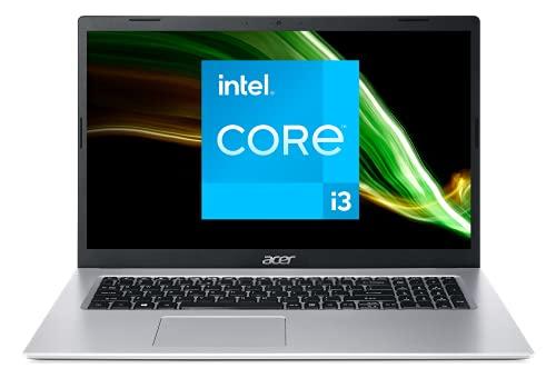 Acer Aspire 3 A317-53-34A6 - Ordenador portátil de 17,3 Pulgadas, HD+, portátil (Intel Core i3-1115G4, RAM de 8 GB, SSD 512 GB, Intel UHD Graphics, Windows 10) - Teclado AZERTY (francés), Color Gris