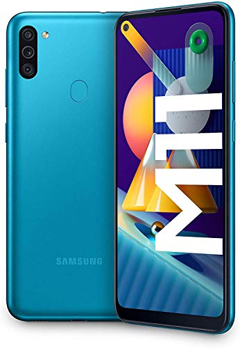 SAMSUNG Galaxy M11 | Smartphone Dual SIM, Pantalla de 6,4'', Cámara 13 MP, 3 GB RAM, 32 GB ROM Ampliables, Batería 5.000 mAh, Android, Color Azul metálico