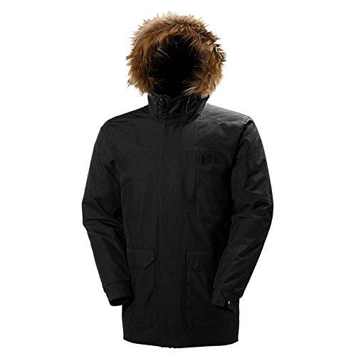 Helly Hansen Dubliner Parka Chaqueta 3/4 Impermeable, Cortaviento y Transpirable para Hombre para el Uso Diario, Negro (Black 990), XL