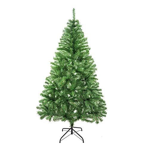 Solagua �rbol de Navidad Verde Artificial Abeto de Hoja Verde Espumillón 120-210cm Arboles C/Soporte Metálico (Verde Brillo, 150cm 293Tips)