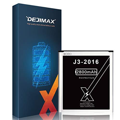 DEJIMAX Alta Capacidad 2800mAh Batería para Samsung Galaxy J3 2016 / J5 2015, 2800mAh de Polímero de Litio para Galaxy J3 2016 / J5 2015,J320A /J320V /EB-BG530BBU /EB-BG530BBE /J5-G530P