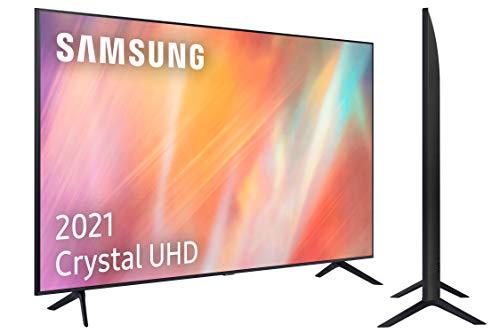 Samsung 4K UHD 2021 55AU7105 - Smart TV de 55' con Resolución Crystal UHD, Procesador Crystal UHD, HDR10+, PurColor, Contrast Enhancer y Alexa Integrada