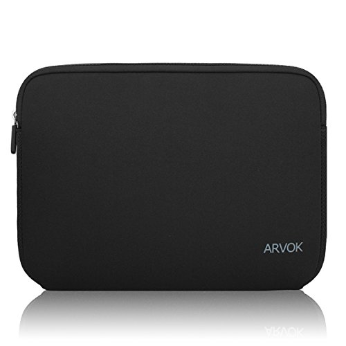 Arvok 15,6 Pulgadas Funda Protectora para Portátiles/Impermeable Ordenador Portátil Caso/Neopreno del Portátil Bolsa para Acer/ASUS/DELL/Fujitsu/Lenovo/HP/Samsung/Sony (Negro)