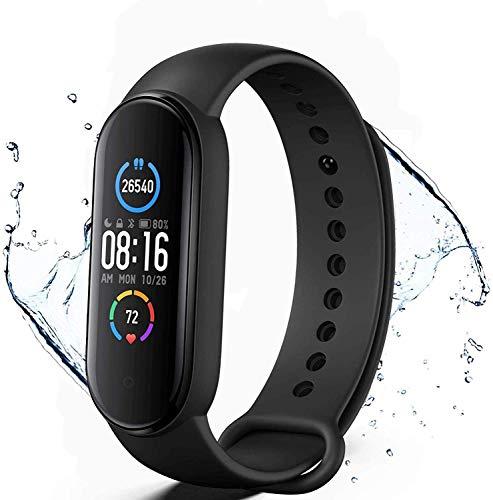 Pulsera de Actividad física M5,Reloj Inteligente con Oxígeno Sanguíneo Presión Arterial Frecuencia Cardíaca,podómetro,Calorías,Pulsera Deportiva, Monitores de Actividad,Pulsera de Salud y Fitness