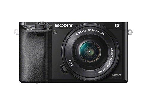 Sony A6000 - Cámara EVIL de 24 MP (pantalla de 3', estabilizador óptico, vídeo Full HD, WiFi, Sony Minolta), negro - Kit cuerpo con objetivo 16 - 50 mm con estabilizador de imagen