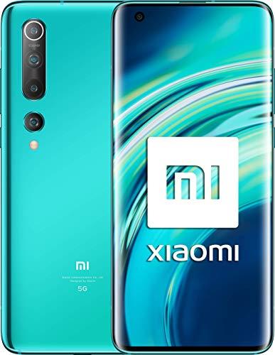 Xiaomi Mi 10 (Pantalla FHD+ 6.67�, 8GB+128GB, Camara de 108MP, Snapdragon 865 5G, 4780mah con carga 30W, Android 10) Verde [Versión española]