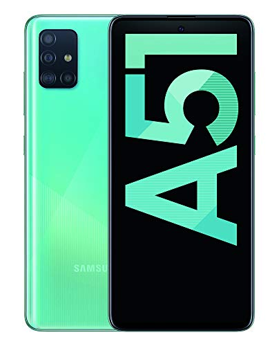 Samsung Galaxy A51 - Dual SIM, Smartphone de 6.5' Super AMOLED (4 GB RAM, 128 GB ROM, cámara trasera 48.0 MP + 12.0 MP + 5.0 MP + 5 MP, cámara frontal 32 MP) Azul [Versión española]