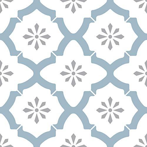 WallPops FP2943 Alfama - Azulejos de suelo autoadhesivos, multicolor