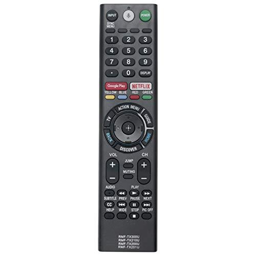 VINABTY RMF-TX300U RMF-TX200U RMF-TX201U Mando a Distancia de Repuesto para Sony TV KD-75XE9405 KD-65A1 KD-43XE8004 KD-75XE8505 KD-49XE8004 KD-55XE9005 KD-65XE8505 KD-49XE9005 KD-75XE9005 KD-55XE9305