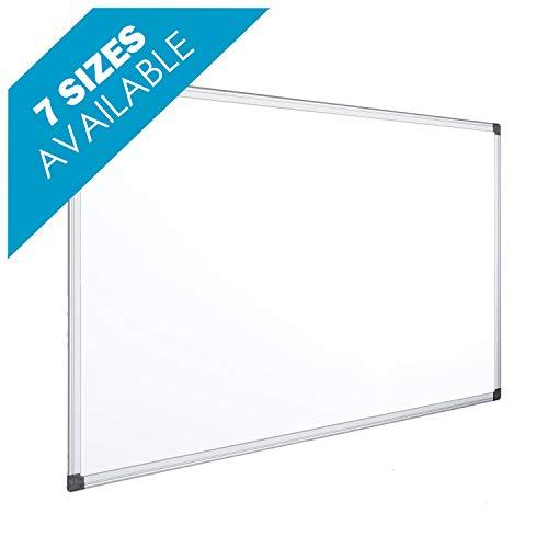 OFITURIA Pizarra Blanca Magnética Lacada Con Marco De Aluminio Resistente Fácil De Borrar En Seco, Medida 120x90 cm