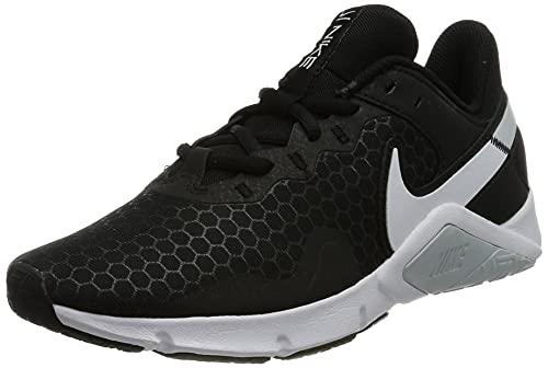 Nike Wmns Legend Essential 2, Zapatos de Entrenamiento Mujer, Black/White-Pure Platinum, 40 EU