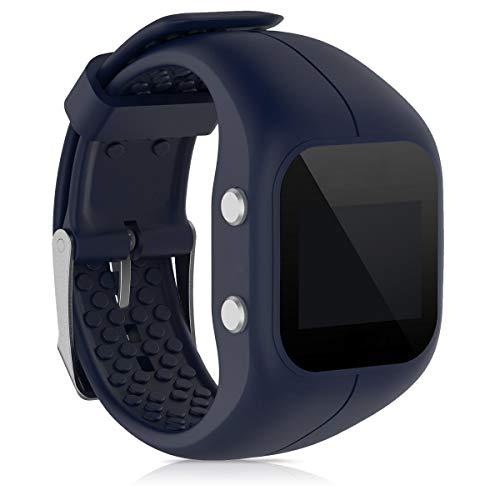 kwmobile Pulsera Compatible con Polar A300 - Correa para Reloj Inteligente Silicona TPU Azul Oscuro