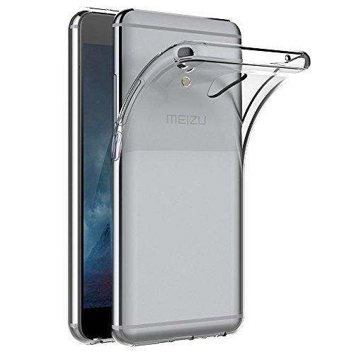 REY Funda Carcasa Gel Transparente para MEIZU M5 Note, Ultra Fina 0,33mm, Silicona TPU de Alta Resistencia y Flexibilidad
