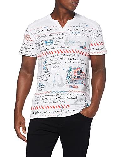 Desigual TS_Cayo Camiseta, Blanco, L para Hombre